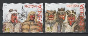 Slovenia 2000 Traditional Costumes 2 MNH Stamps