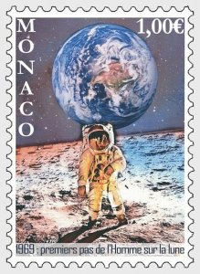 H01 Monaco 2019 50th Anniversary of the Moon Landings MNH Postfrisch