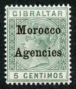 Morocco Agencies SG9 5c green opt type 2 U/M