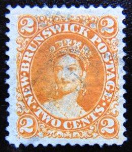 NEW BRUNSWICK 1860 2c Queen Victoria Used SG10 CV£29