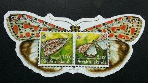 Pitcairn Islands Moth 2007 Butterfly Insect (miniature sheet) MNH *odd *unusual