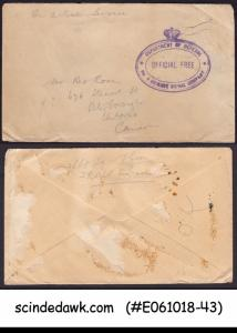 GREAT BRITAIN - OLD STAMPED ENVELOPE TO CANADA - USED