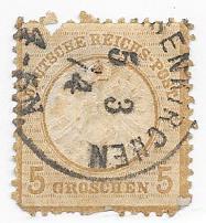 Germany #20  5gr bister FAULTY  (U) CV $30.00