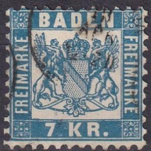 Baden #28 F-VF Used CV $35.00 (A19410)