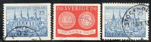 Sweden  Scott  449-451  Used  Complete