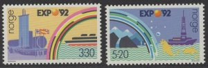 NORWAY SG1146/7 1992 EXPO 92 WORLDS FAIR MNH