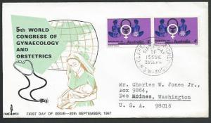 AUSTRALIA 1967 Gynaecology Congress : Parade Covers FDC....................58701