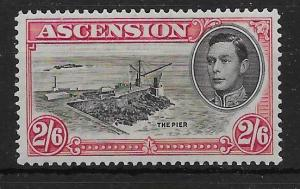 ASCENSION SG45 1938 2/6 BLACK & CARMINE p13½ MTD MINT