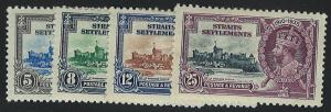 Straits Settlements 213-216  MH! King George V Silver Jubilee!
