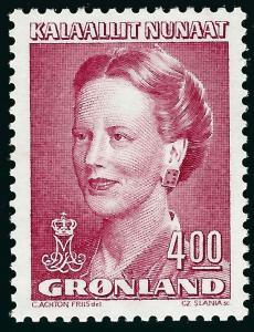Nice Greenland Slania #224 Queen Margrethe MNH VF...Kalaallit is Hot now!