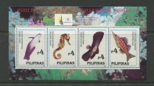 STAMP STATION PERTH Philippines #2413 Fish Souvenir Sheet MNH CV$5.00