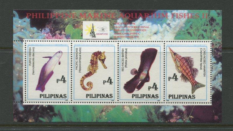 STAMP STATION PERTH Philippines #2413 Fish Souvenir Sheet MNH CV$5.00