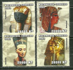 Mozambique MNH 1608A-D Egyptian Rulers 2002 SCV 7.75