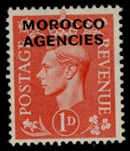 MOROCCO AGENCIES GVI SG78, 1d pale scarlet, NH MINT.