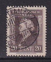 Netherlands Indies   #258  used  1945   Wilhelmina 20c