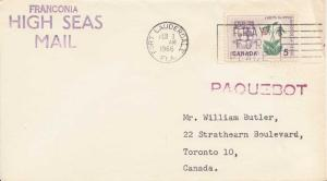 Canada 5c Lady's Slipper and Arms of Prince Edward Island 1966 Fort Lauderdal...