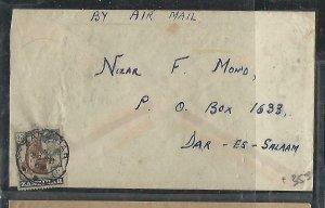 ZANZIBAR  (PP2608B)  1963 SULTAN 40C A/M COVER TO DAR ES SALAAM