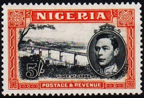 Nigeria.1938 5s S.G.59c Mounted Mint