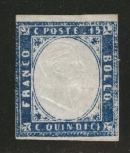 ITALY Scott 22 MH* CV $80 stamp 1863