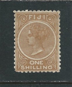 FIJI 1881-99 1s PALE BROWN PERF 11 MM SG 66 CAT £55