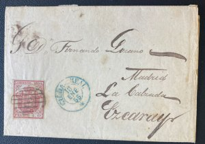 1855 Ciudad Real Spain Letter Sheet cover To Madrid