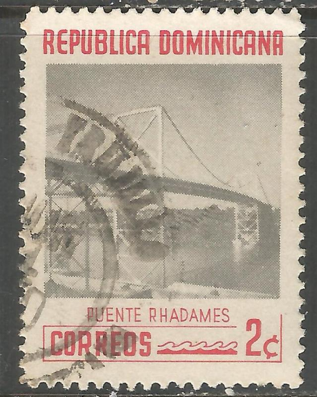 DOMINICAN REPUBLIC 520 VFU BRIDGE L861-4