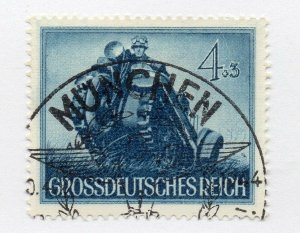 Germany 1943 Early Issue Fine Used 4pf. NW-100708
