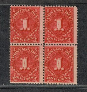 US Sc#J45 M/NH/A-F, Block Of 4 OG Perf 12 Wmk 190, Cv. $460