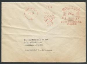 GERMANY 1931 cover red meter REMSCHEID, Tools, Robert Frohn Sohn...........57064