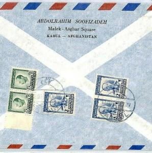 Afghanistan Kabul Cover Commercial Air Mail {samwells-covers} 1950s CS159