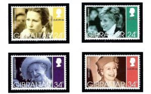 Gibraltar 703-06 MNH 1996 Women of the British Royal Family
