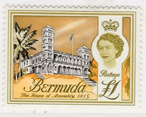 British Colony Bermuda 1962 £1 MH* Stamp Historical Buildings A22P19F8933