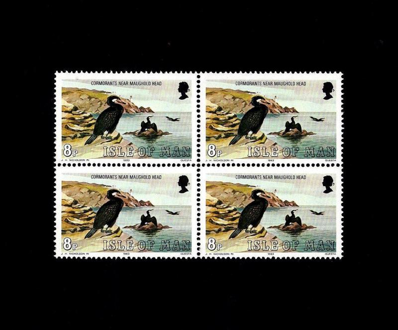 ISLE OF MAN - 1983 - BIRD - CORMORANT - MARINE BIRD - MINT - MNH BLOCK!