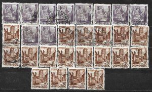 COLLECTION LOT OF 28 GERMANY  WURTTEMBERG 1948 STAMPS CLEARANCE CV+ $29