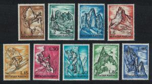 San Marino Mountaineering 9v SG#669=678 SC#519=528