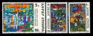 (303) Ethiopia / African freedom / church windows / 1987 / rare / mnh
