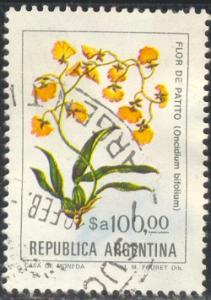 Flower, Oncidium Bifolium, Argentina stamp SC#1443 Used
