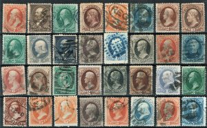 [0195] 1870-90 Selection of 32 Bank note issue used