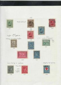 slovenia stamps page ref 16839