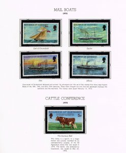 UK STAMP Guernsey MNH STAMP COLLECTION LOT   #1