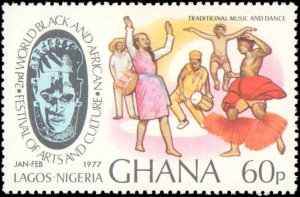 Ghana #611-614, Complete Set(4), 1977, Never Hinged