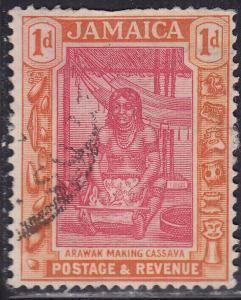 Jamaica 76 USED 1921 Arawak Woman Making Cassava 1d