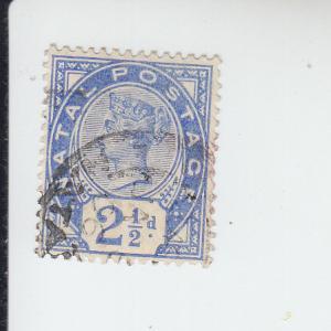 1891 Natal Queen Victoria  (Scott 78) Used