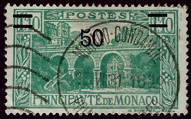 Monaco Scott #96 Used Fine SCV$8.75...French Colonies are hot!