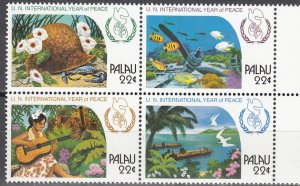 Palau, Sc 112a, MNH, 1986, Year of Peace