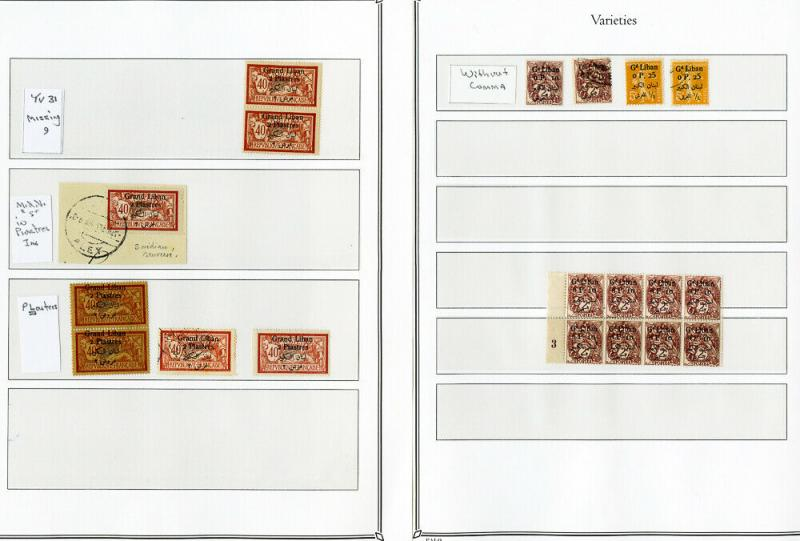 Lebanon Stamps 58x Mint & Used Collection & Study 1924