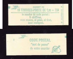 France-Sc#1880-Unused NH booklet-2 panes of 5-Liberty, after Delacroix-1986-
