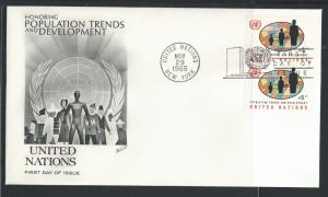 UN NY #151 FDC 4c Fields and People