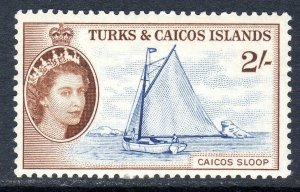 Turks & Caicos  1957   sg 248   2/-  value   MM  cv £16.00