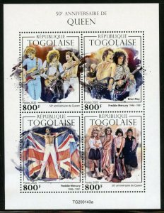 TOGO 2020  50th ANNIVERSARY  OF QUEEN  SHEET MINT NEVER HINGED